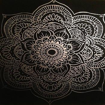 Silver Mandala by Courtney James