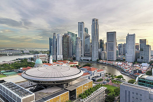 Singapore Central Business District City Skyline by Jit Lim