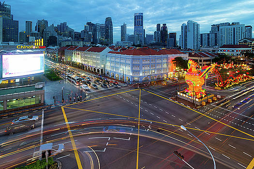 Singapore Chinatown 2017 Chinese New Year Blue Hour by Jit Lim