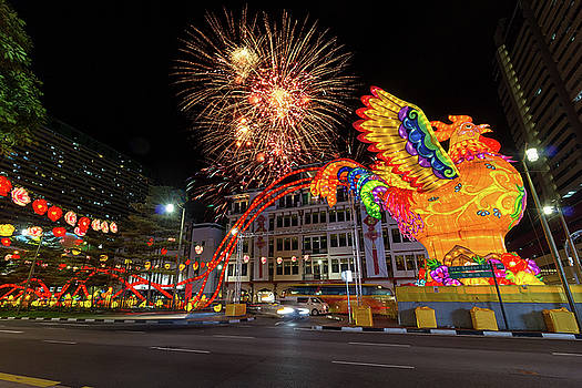 Singapore Chinatown 2017 Chinese New Year Fireworks by Jit Lim