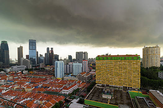 Singapore Chinatown Aerial View by Jit Lim