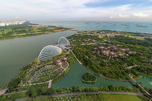 Singapore Marina Barrage Reservoir Aerial View by Jit Lim