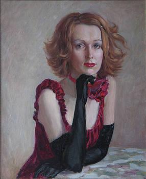Singer-girl by Korobkin Anatoly