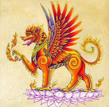 Singha Winged Lion by Rebecca Wang