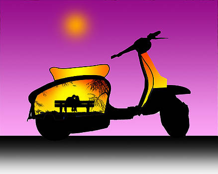 Sit WIth Me Lambretta by Peter Stevenson