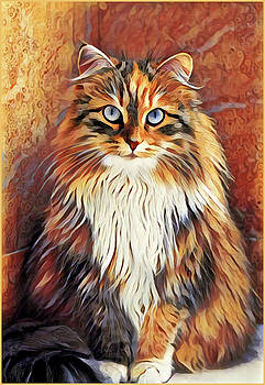 Sitting Cat by Gary Grayson