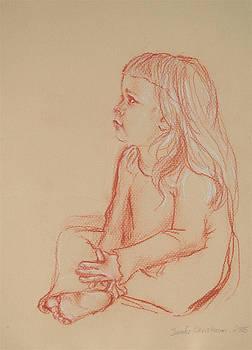 Sitting Girl by Jennifer Christenson