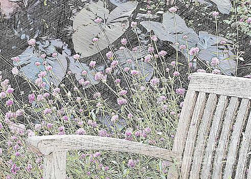 Sitting in a Flower Garden by Sherry Hallemeier