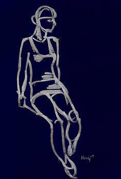 Sitting Model by Natoly Art