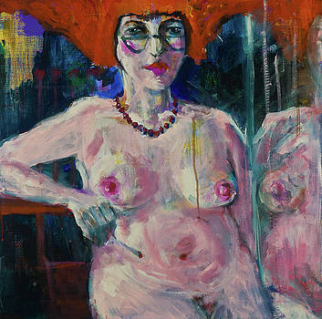 Sitting nude by Maxim Komissarchik