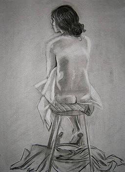 Sitting Nude Study - Female by Candace Barnett