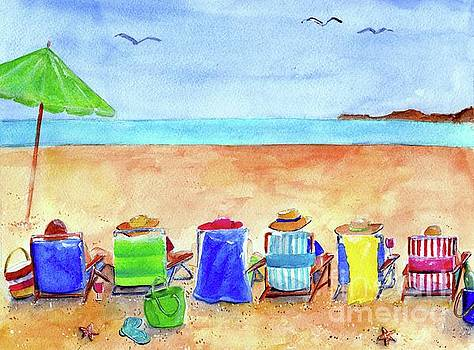 Six Beach Amigos by Sheryl Heatherly Hawkins