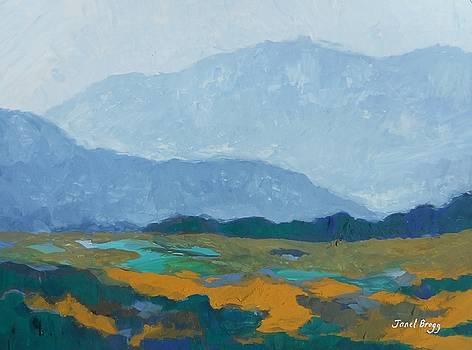 Skagit Flats in Casein by Janel Bragg