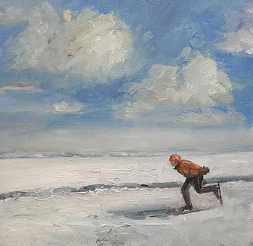 Skater Dutch landscape by Nancy Van den Boom