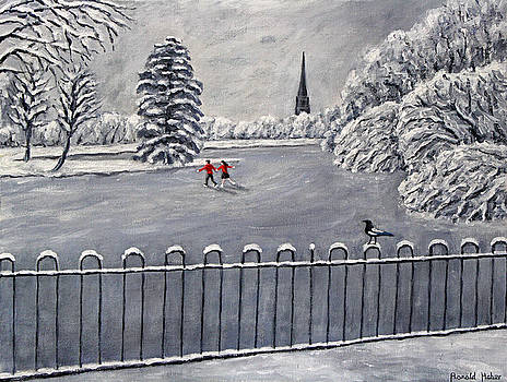 Skating In The Park by Ronald Haber