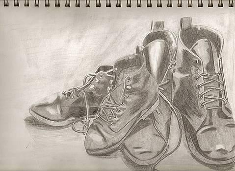Sketchbook shoes by Jeanette Lindblad