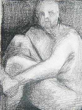 Sketchy Guy II by Paula  Heffel