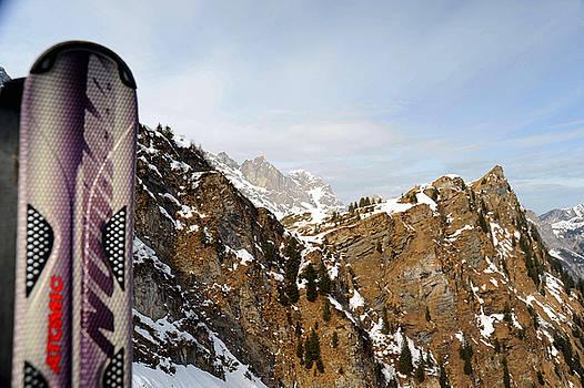 Skiing Swiss Alps by Richard Gehlbach