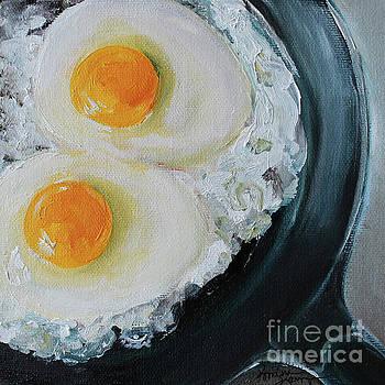 Skillet Fried Eggs by Kristine Kainer