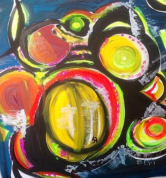 Skinny dipping melons by Judith Desrosiers