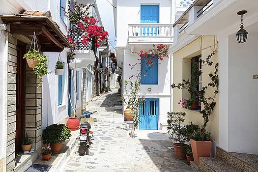 Skopelos Street by Evgeni Dinev
