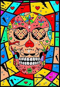 Skull Popart by Nico Bielow by Nico Bielow