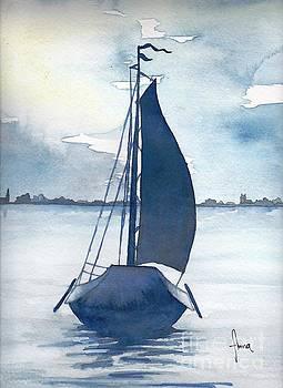 Skutsje no.2 by Annemeet Hasidi- van der Leij