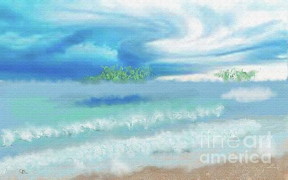 Sky Over Beach by Arlene Babad