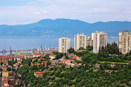 Skyscrapers and bay of Rijeka view by Dalibor Brlek