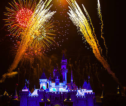 Sleeping Beauty Castle and Fireworks by Sam Amato