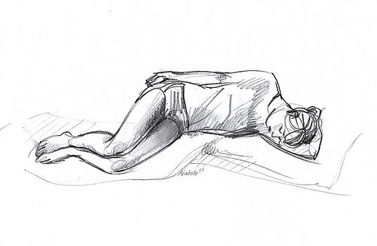 Sleeping Girl by Natoly Art