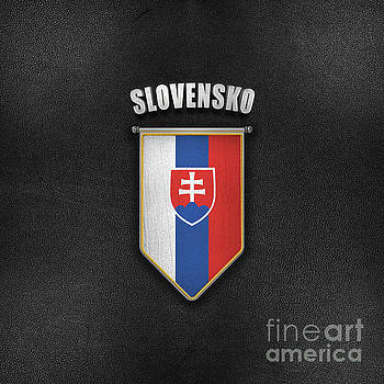 Slovakia Pennant with high quality leather look by Carsten Reisinger