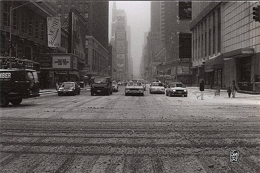 Slow NY in the Snow by Sonia Stewart