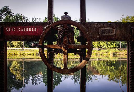 Sluice on Pavia Canal by Cesare Bargiggia