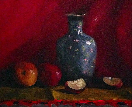 Small Ceramic and Fruits  by Rich Alexander