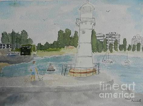 Small Lighthouse one Belmore Basin by Pamela Meredith