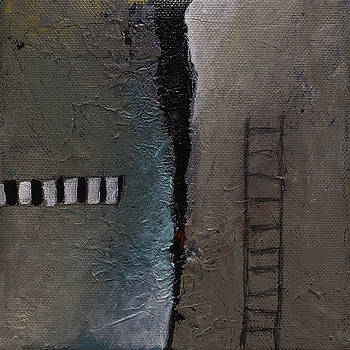 SMALL ORIGINAL PAINTING Surreal Abstract Modern Contemporary Painting by Gray  Artus