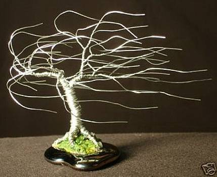 Small  Wind Swept  - Wire Tree Sculpture by Sal Villano