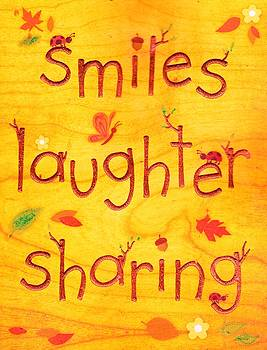 Smiles Laughter Sharing by Anne-elizabeth Whiteway