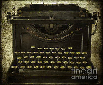Smith And Corona Typewriter by Cindi Ressler