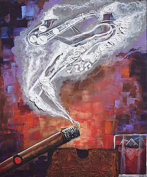 SMOKIN JAZZ cigar silhouette series by The Art of DionJa'Y