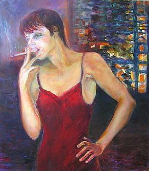 Smoking girl by Sylva Zalmanson