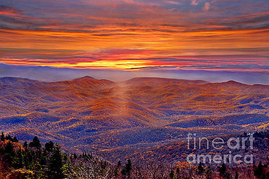 Smoky Mountain Sunrise by Jeff McJunkin