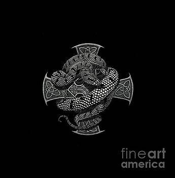Snake Cross t-shirt by Stanley Morrison