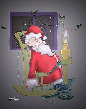Snoozing Santa by Shane Guinn