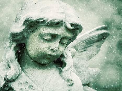 Snow Angel, Ethereal Angel Art by Melissa Bittinger