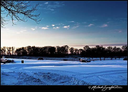 Snow at Dusk by Melinda Swinford