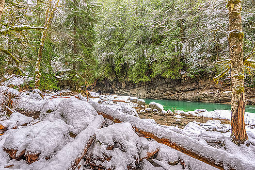 Snow at Eagle Creek by Spencer McDonald