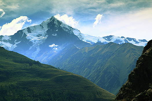 Snow Capped Andean Mountain Landscape by Roupen  Baker