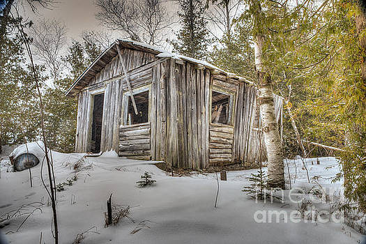 Snow Covered Abandon Cabin by Patrick Shupert